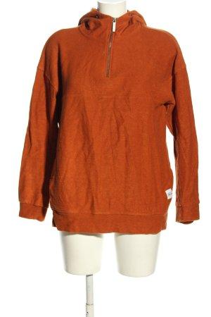 Native Youth Maglione con cappuccio arancione chiaro puntinato stile casual