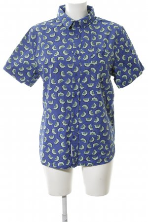 Native Youth Shirt met korte mouwen blauw-khaki volledige print