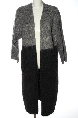 Native Youth Płaszcz z dzianiny jasnoszary-czarny Melanżowy W stylu casual