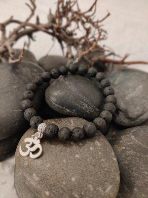 Natürliche Lava Stein Armband mit OM anhänger