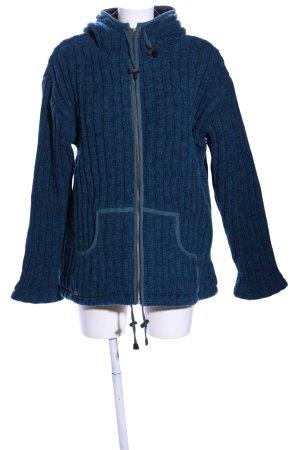 Natur Pur Wolljacke blau Casual-Look