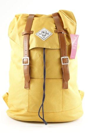Zaino per la scuola giallo pallido stile casual