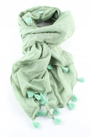 Natura Fransenschal grün Casual-Look