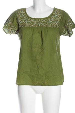 Natura Camicetta a maniche corte verde stile casual