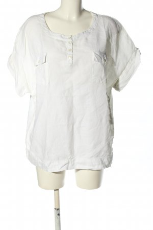 Natural Wave Munich Linen Blouse white casual look