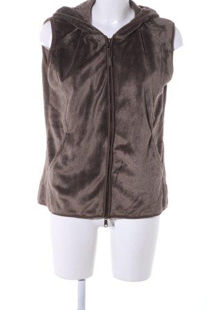 Hooded Vest brown casual look
