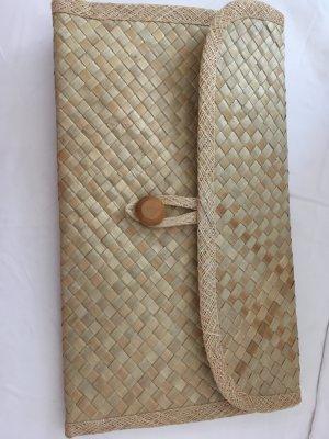 Naturfarben Clutch Handmade geflochten