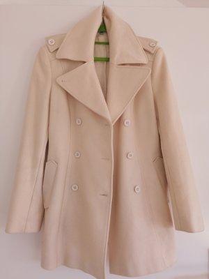 Blue Strenesse Wool Coat white