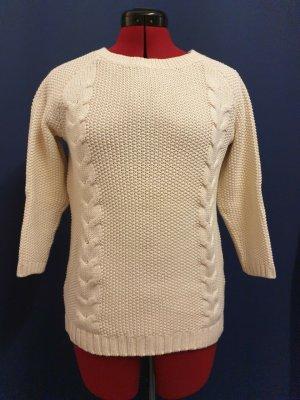 Cynthia Rowley Crewneck Sweater natural white cotton