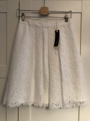 Esprit Falda de encaje blanco puro-blanco