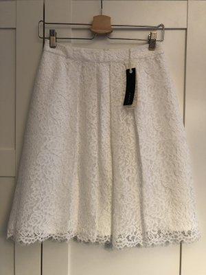 Esprit Koronkowa spódnica w kolorze białej wełny-biały