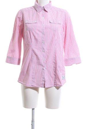 Hemd-Bluse pink-weiß Streifenmuster Casual-Look