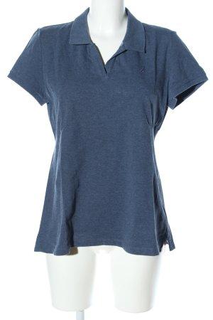 Nautica Polo-Shirt blau meliert Casual-Look