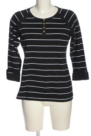Nautica Camisa de rayas negro-blanco estampado a rayas look casual
