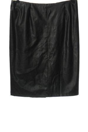Navabi Rok van imitatieleder zwart casual uitstraling