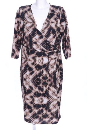 Navabi Langarmkleid schwarz-wollweiß abstraktes Muster Business-Look