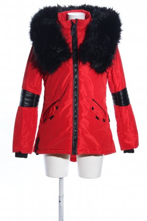 Navahoo Daunenjacke rot-schwarz Casual-Look