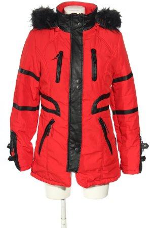 Navahoo Outdoorjacke rot-schwarz Motivdruck Casual-Look