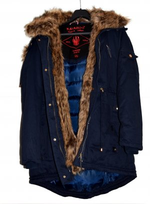 Navahoo warme Damen Winter Jacke Parka mit Webpelz Kapuze Gr. XXL