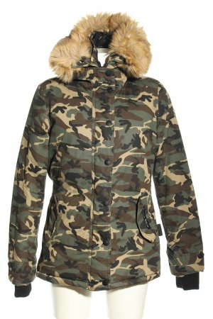 Navahoo Winterjacke Camouflagemuster Casual-Look