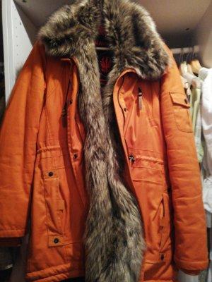 NAVAHOO Winterjacke Fakefur orange XL
