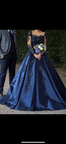Navy Blau, Verlobungskleid/Nişanlık