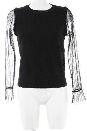 Navy London Schlupf-Bluse schwarz Casual-Look