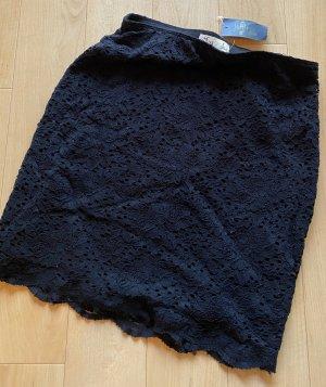 Hollister Falda de encaje azul oscuro