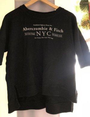 navyblauer Cropped Sweater mit Logo Print in XS von Abercrombie & Fitch