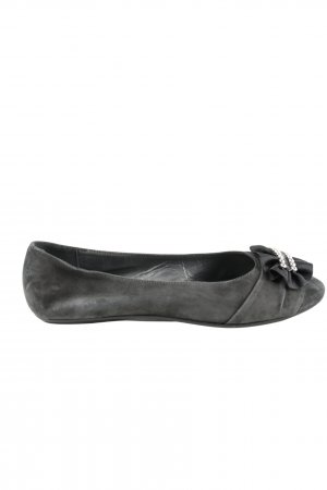 Navyboot Ballerinas mit Spitze schwarz Casual-Look