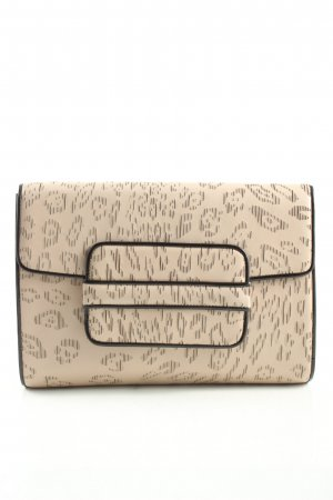 Navyboot Clutch creme abstraktes Muster Business-Look