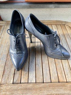 Navyboot Chaussure à talons carrés gris foncé