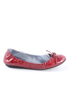 Navyboot Ballerina di pelle verniciata rosso stile casual