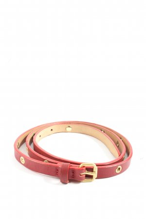 Navyboot Leather Belt red-gold-colored casual look
