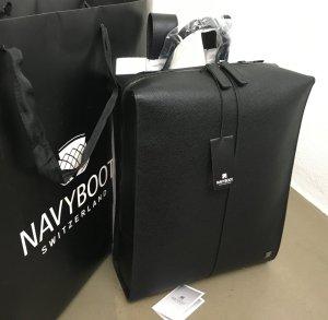 Navyboot Laptop rugzak zwart Leer