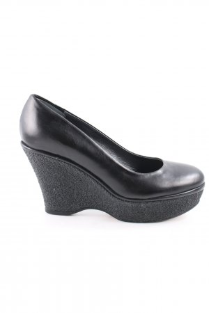 Navyboot Plateau-Pumps schwarz Business-Look
