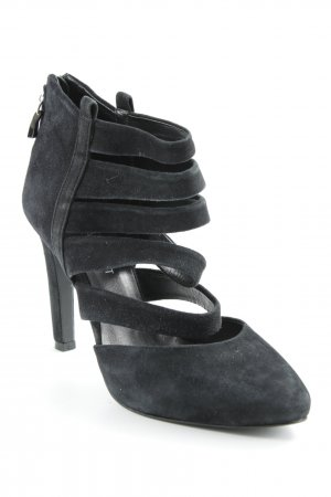Navyboot Riemchenpumps schwarz Party-Look