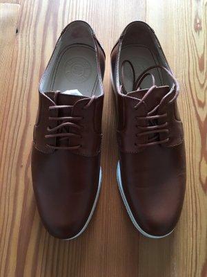 NavyBoot Schuhe, Cognac, Größe 35