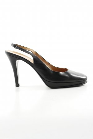 Navyboot Slingback-Pumps schwarz Business-Look