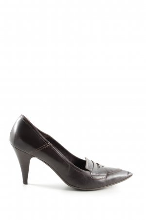 Navyboot Spitz-Pumps braun Business-Look