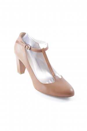 Navyboot T-Strap Pumps light brown casual look