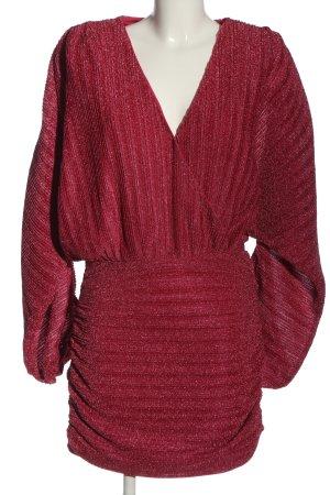NBD Evening Dress red flecked wet-look