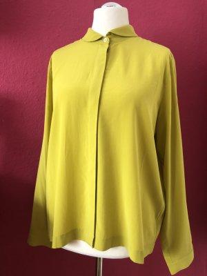 NC nice connections Zijden blouse limoen geel Zijde