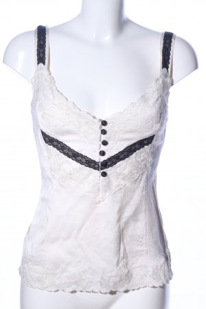 NC nice connections Camisole wollweiß-schwarz Casual-Look