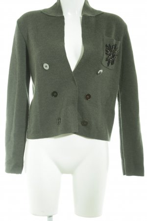 NC nice connections Strickjacke khaki-schwarz Elegant