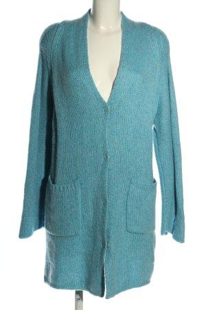 NC nice connections Manteau en tricot bleu style décontracté