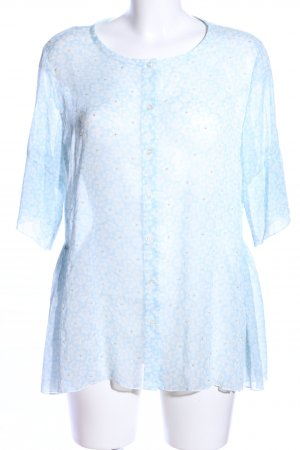 NC nice connections Transparenz-Bluse blau Allover-Druck Casual-Look