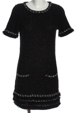 NC nice connections Wełniana sukienka czarny Melanżowy W stylu casual