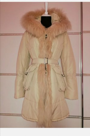 NE.RA Italy Quilted Coat nude polyester