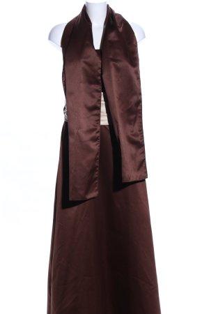 Neblon Abendkleid braun-creme Elegant
